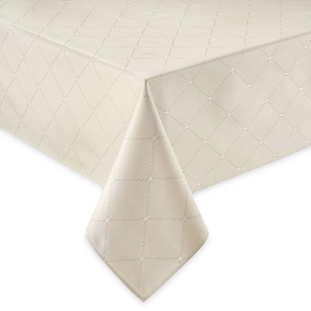 Homewear Cascading Diamond Tablecloth, One Size , Brown