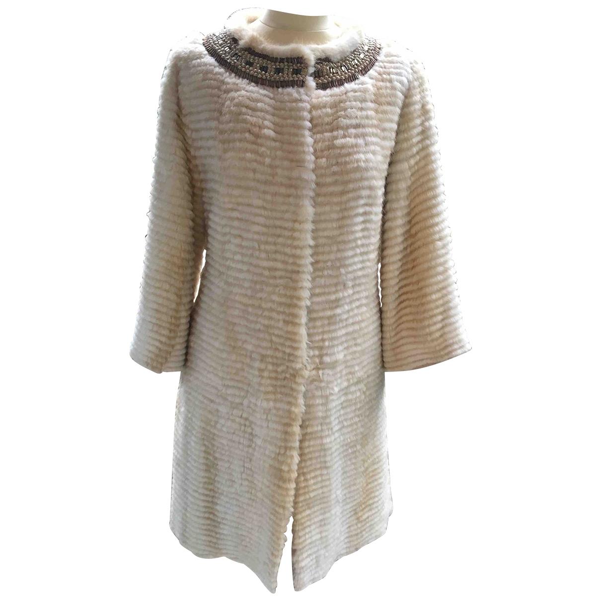 Giuliana Teso \N Beige Mink coat for Women 42 IT