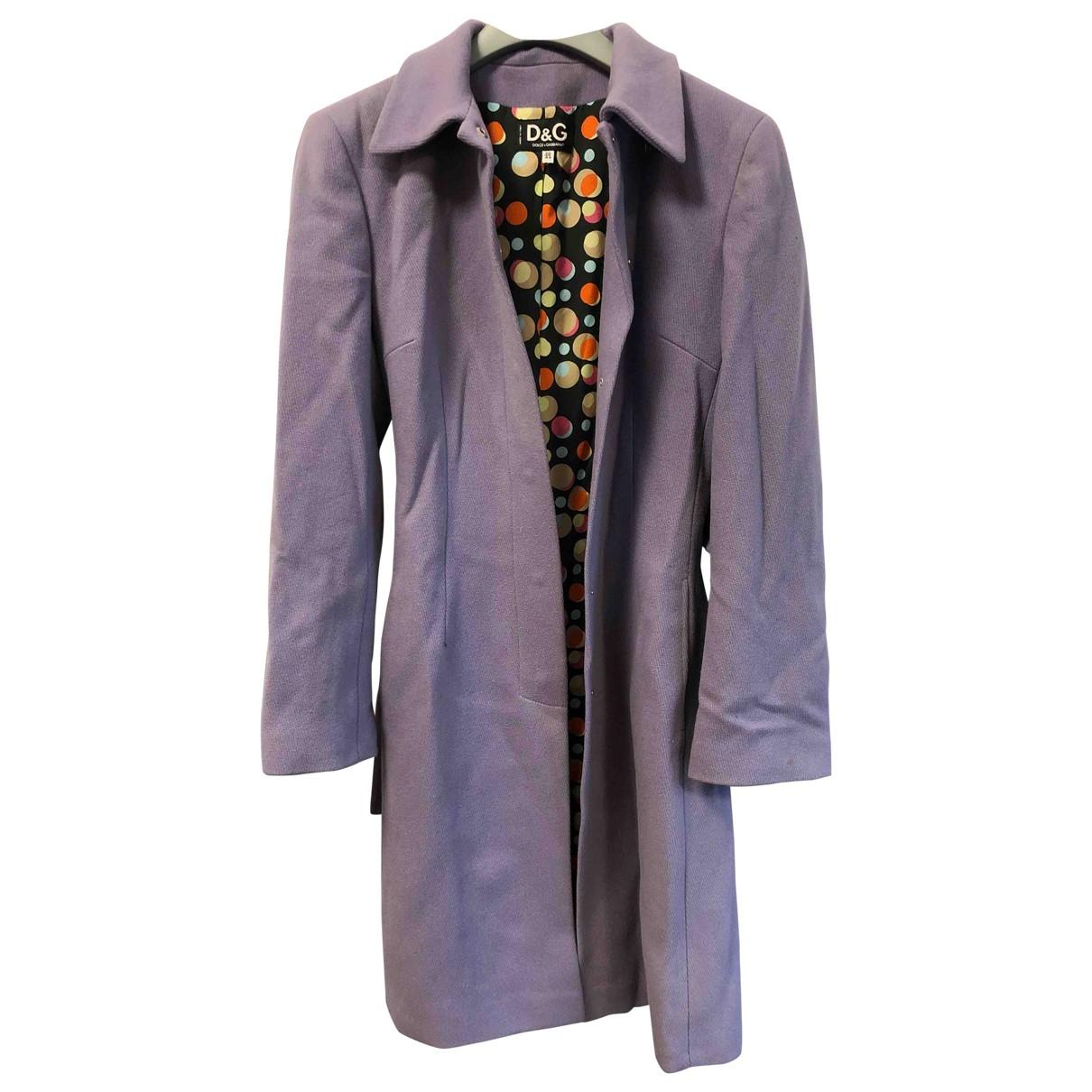 D&g \N Purple Wool coat for Women 44 IT