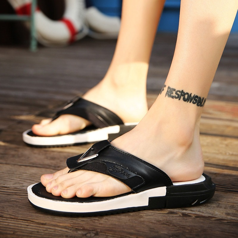 Ericdress PU Thong Sequin Men's Slippers
