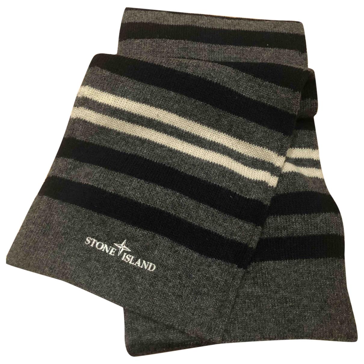 Stone Island \N Grey Wool scarf & pocket squares for Men \N