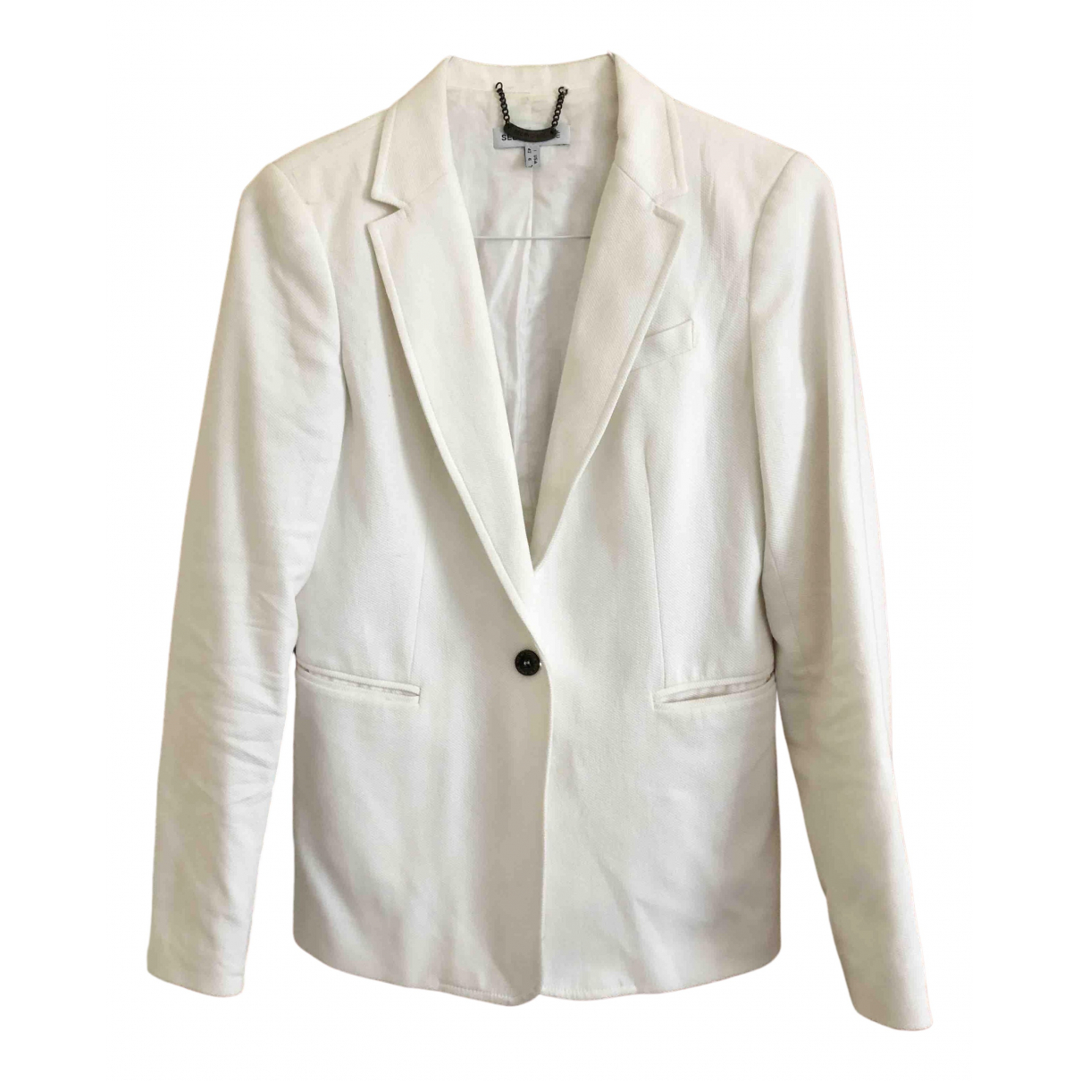 See By Chloé \N White Cotton jacket for Women 38 FR
