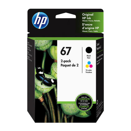 HP 67 3YP29AN Original Black and Tri-color Ink Cartridge Combo