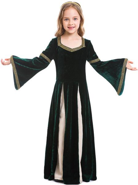 Milanoo Kids Halloween Costumes12 Century Royal Kid Dress With Headwear