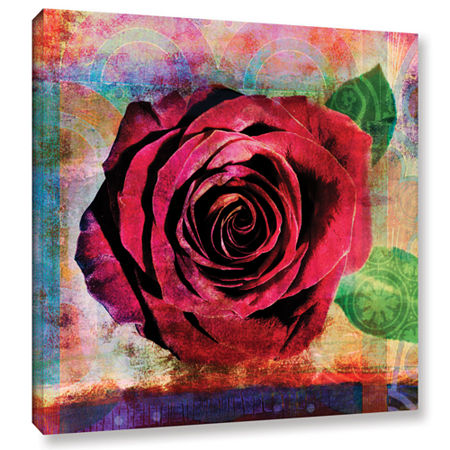 Brushstone Rose Gallery Wrapped Canvas Wall Art, One Size , Pink