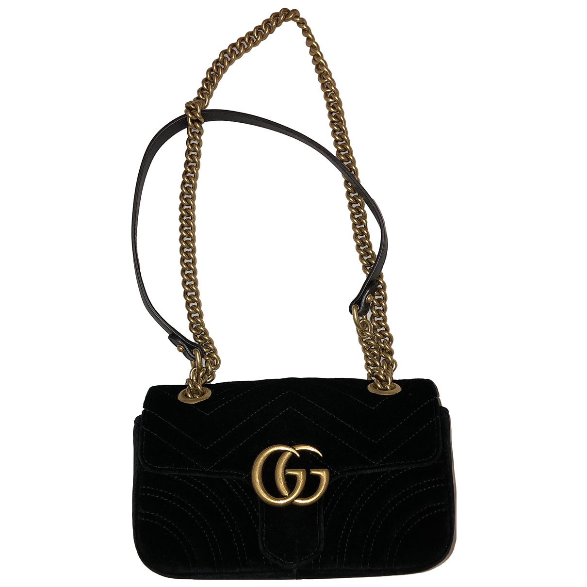 Gucci Marmont Black Velvet handbag for Women \N
