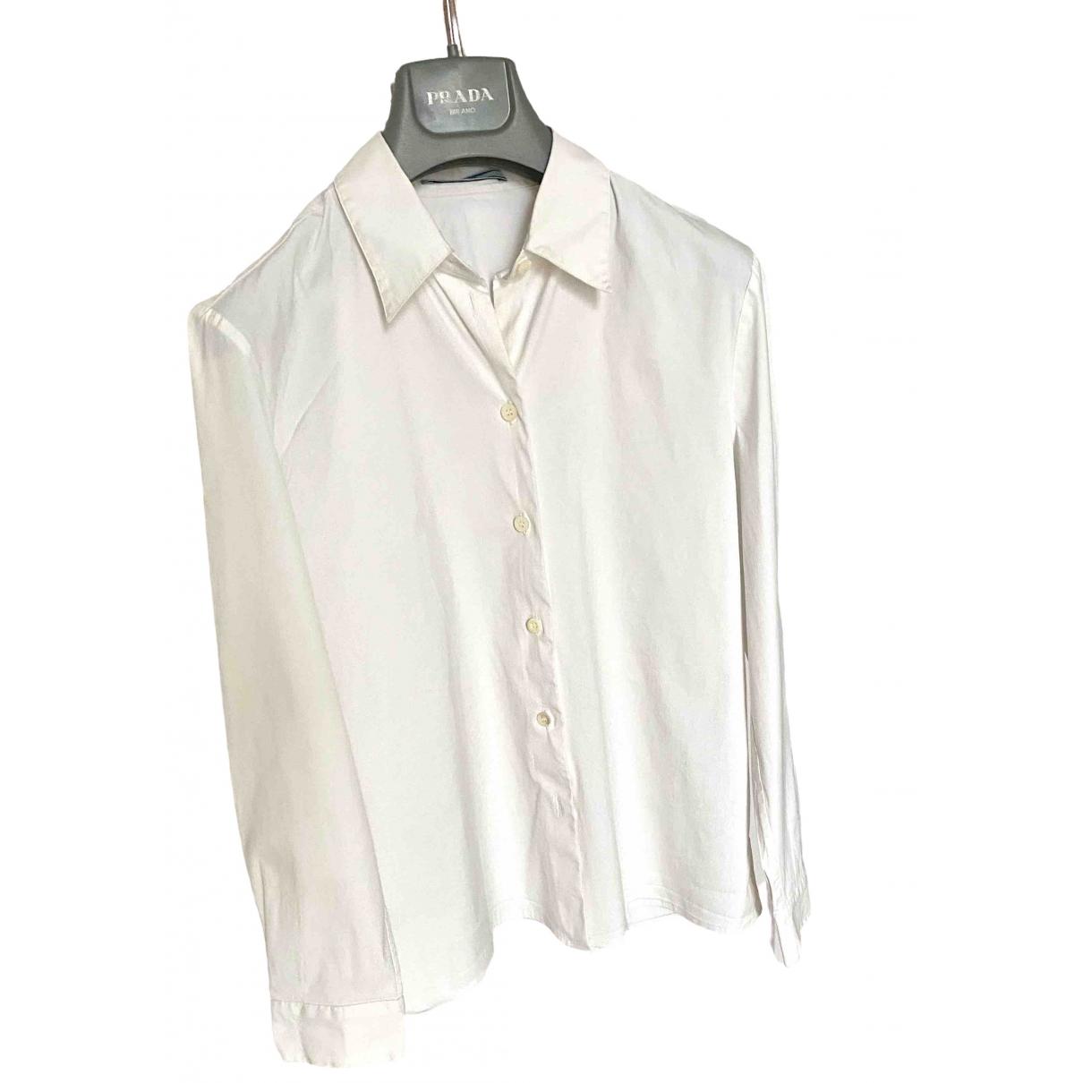 Prada \N White Cotton  top for Women 40 IT
