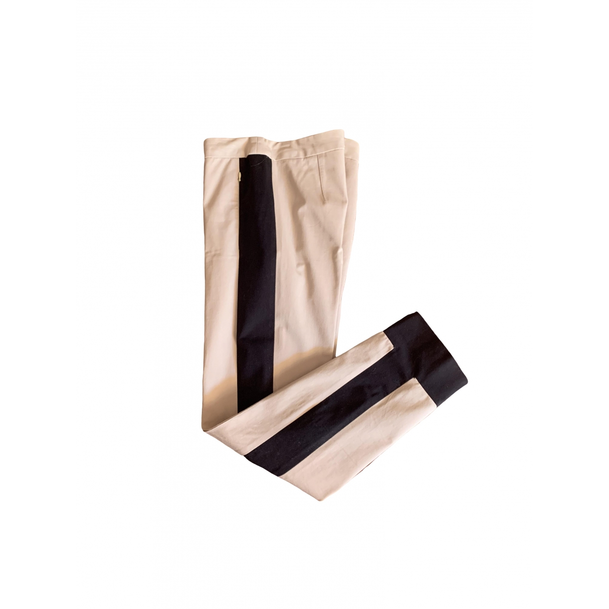 Sport Max \N Beige Cotton Trousers for Women 38 FR
