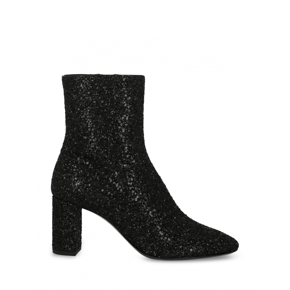 Saint Laurent \N Black Glitter Ankle boots for Women 38 EU
