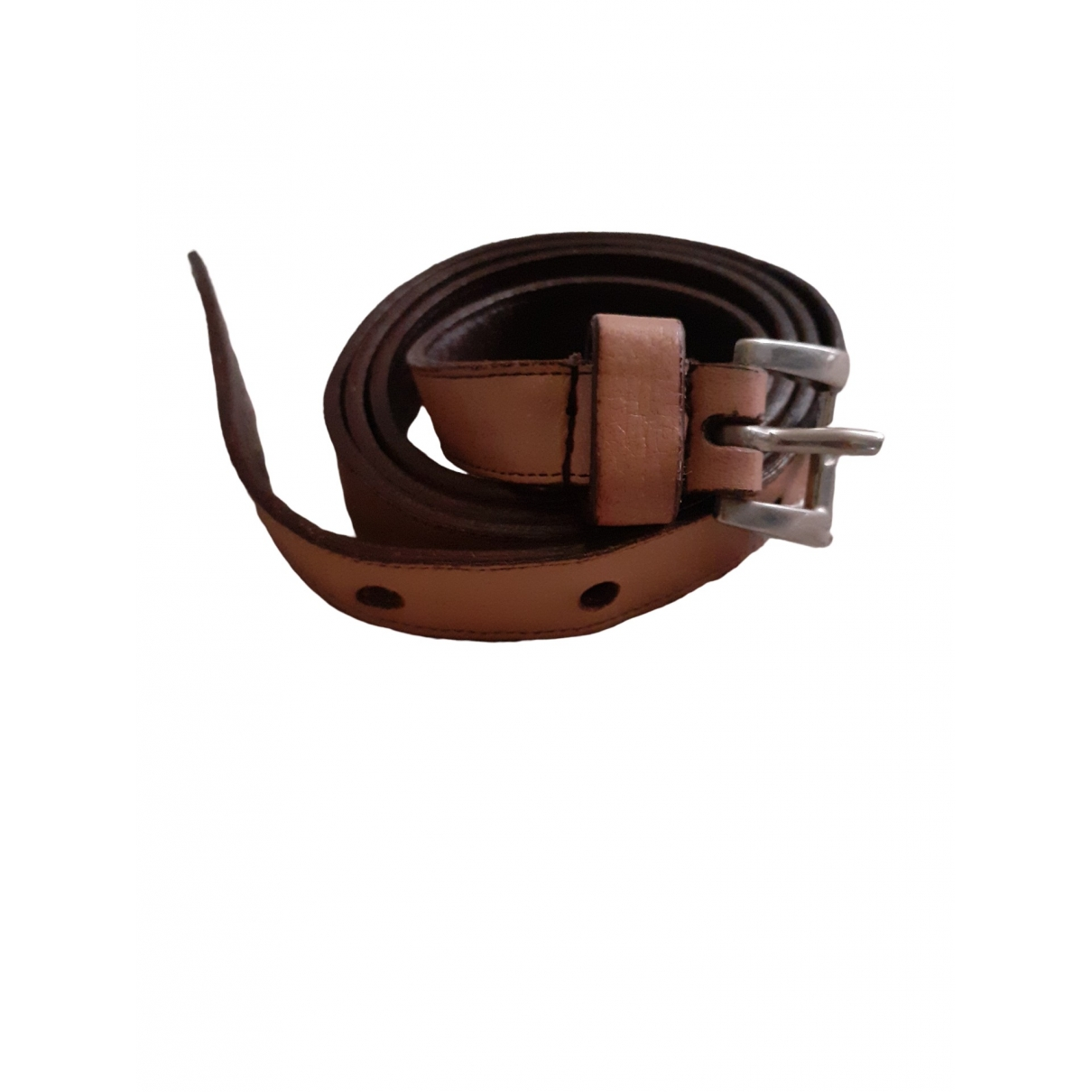 Prada \N Pink Leather belt for Women XS International