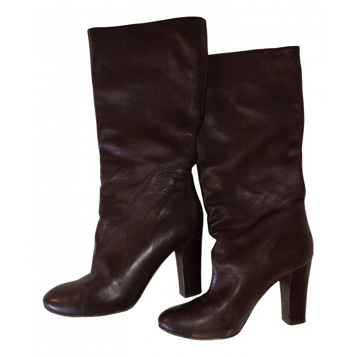Chloé \N Brown Leather Boots for Women 37 EU