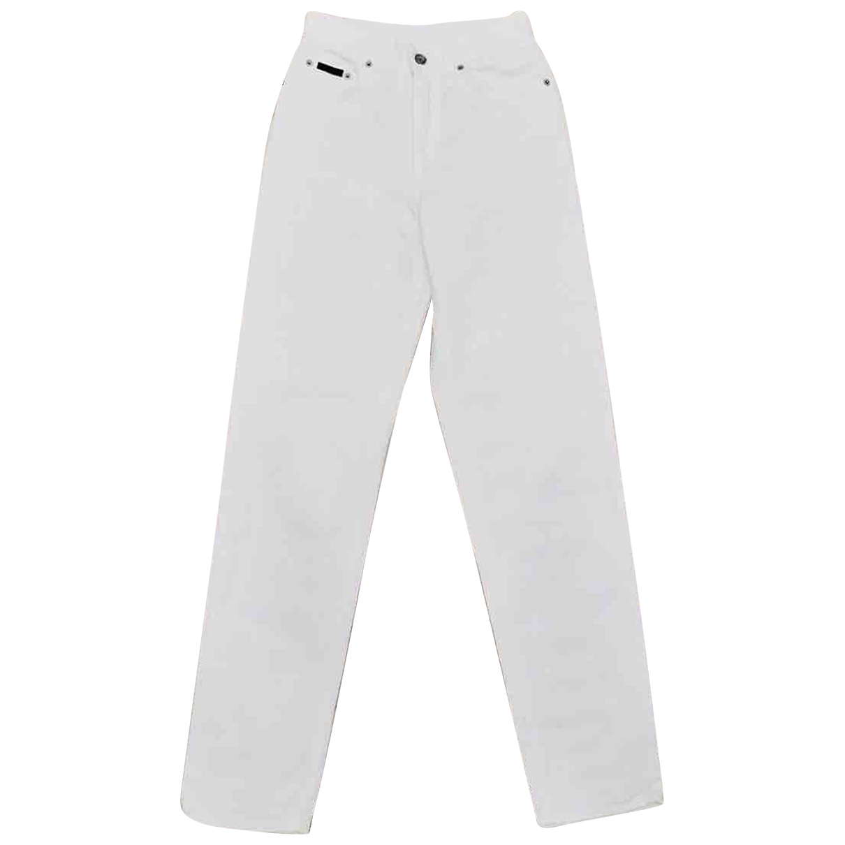 Calvin Klein \N White Cotton Jeans for Women 28 US