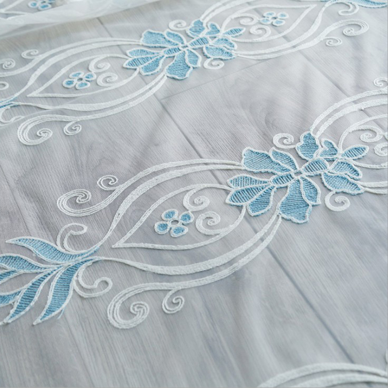 High Quality 2-Pieces Jacquard Grommet Top Sheer Curtain