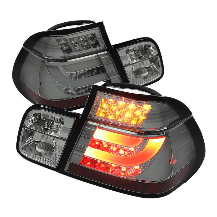 Spyder Auto ALT-YD-BE4699-4D-LBLED-SM Light Bar Style Smoke LED Taillights BMW E46 323ti 4Dr 2000