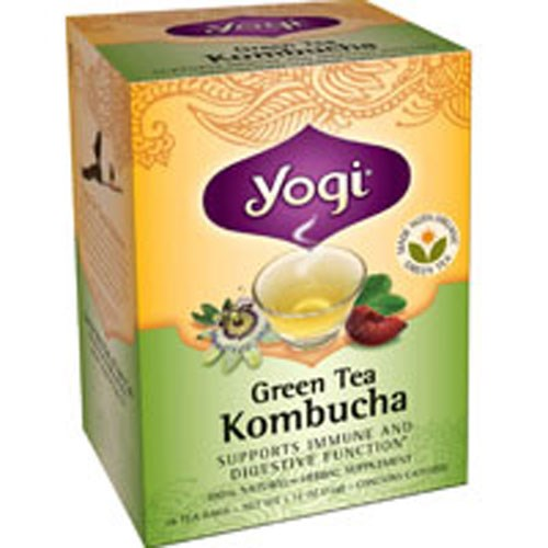 Green Tea Kombucha 16 bags by Yogi