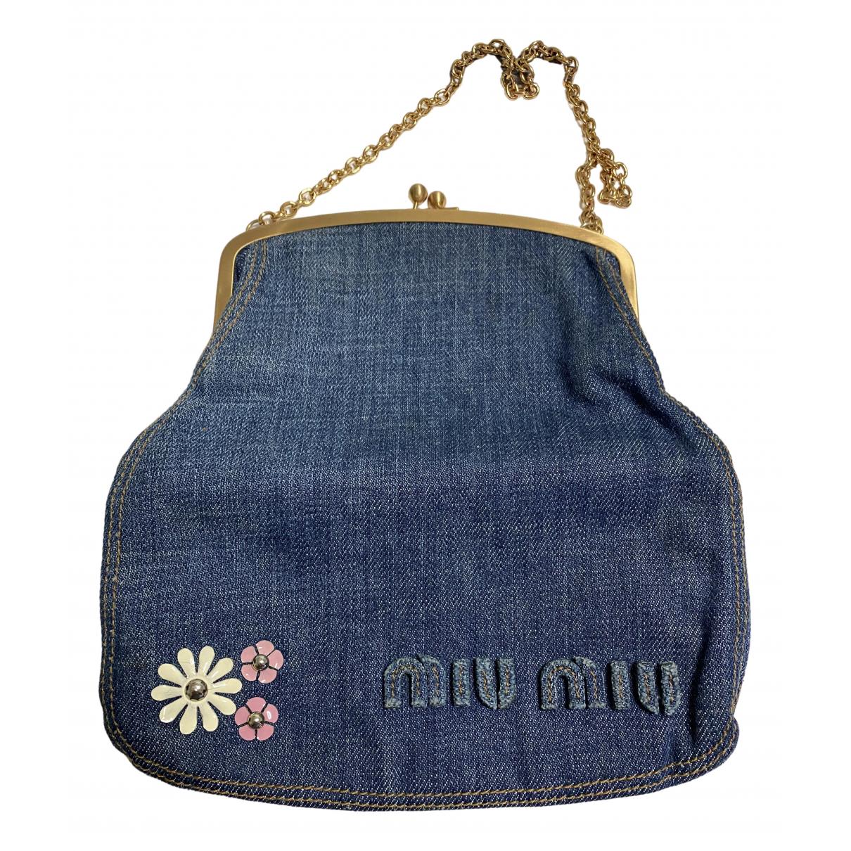 Miu Miu \N Blue Denim - Jeans handbag for Women \N