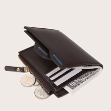 Men Letter Graphic Purse With Card Holder