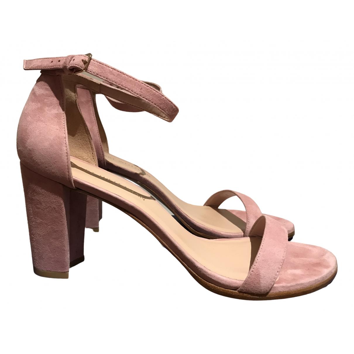 Stuart Weitzman \N Pink Suede Sandals for Women 42 EU