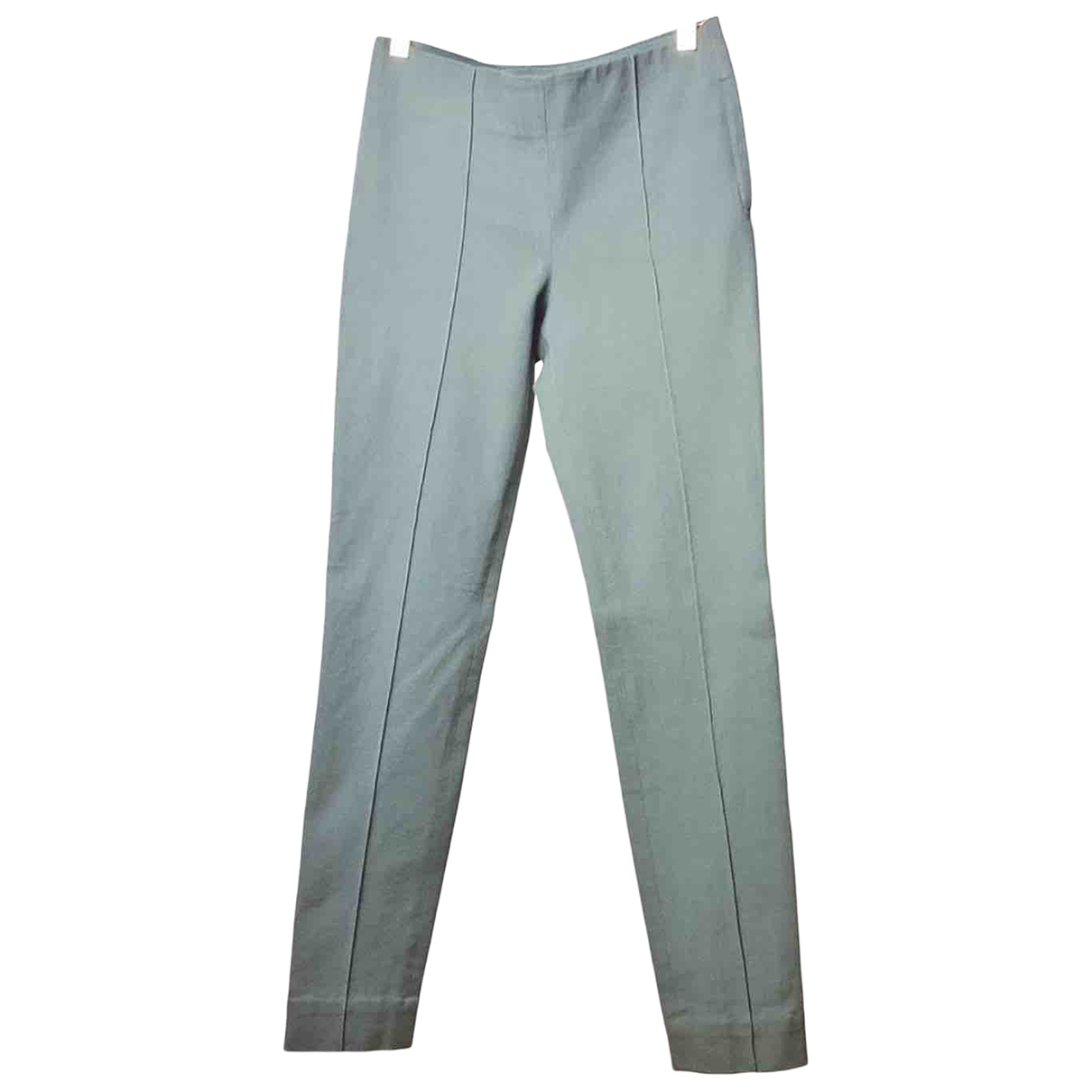 Cos \N Green Cotton Trousers for Women 34 FR
