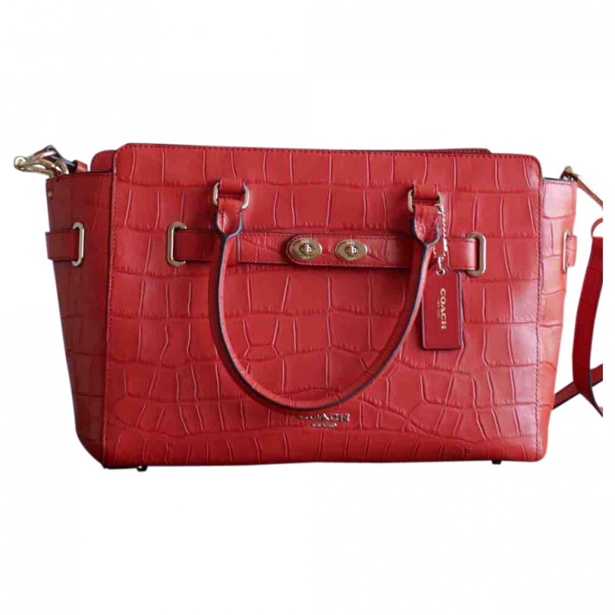 Coach \N Red Leather handbag for Women \N