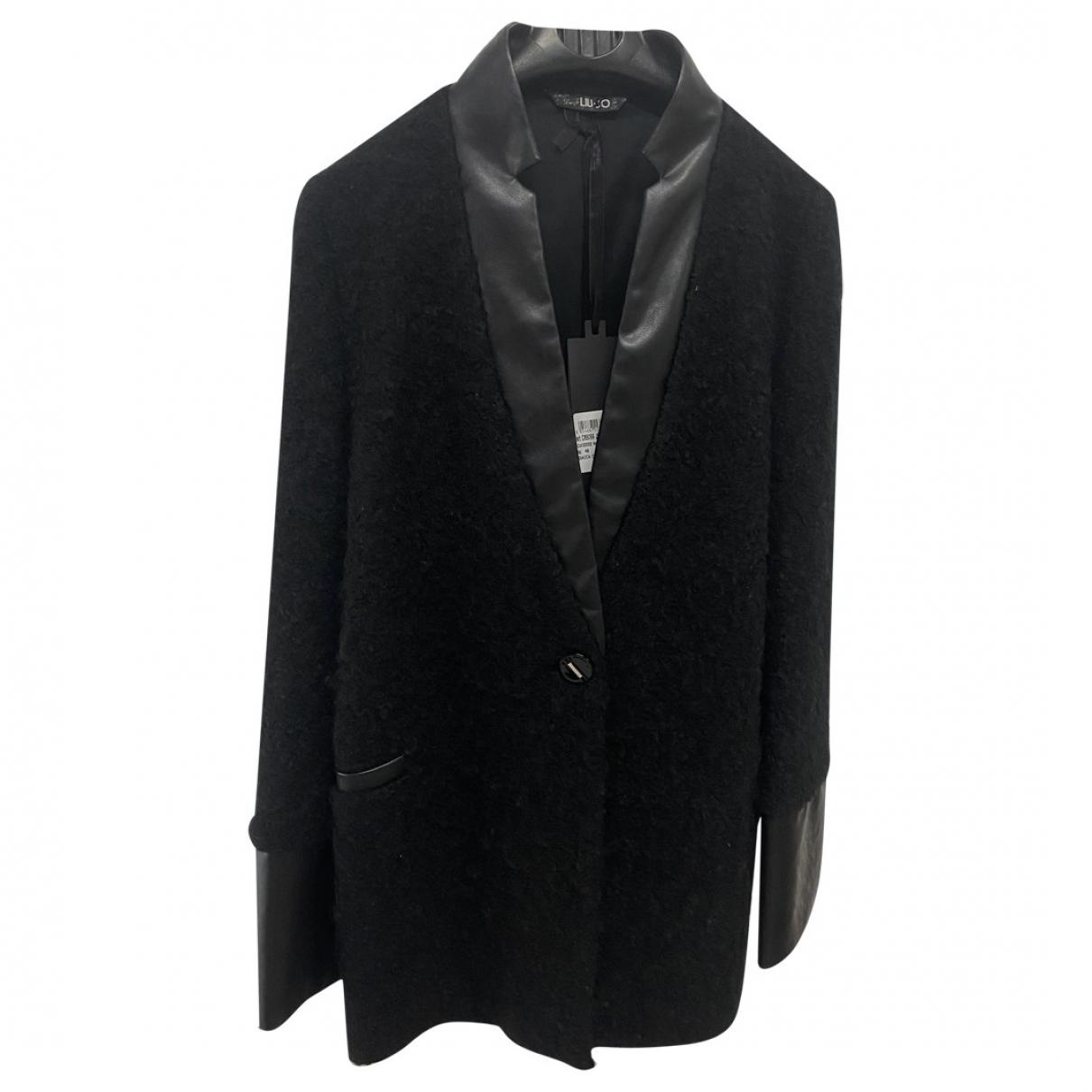 Liu.jo \N Black Wool coat for Women 48 IT