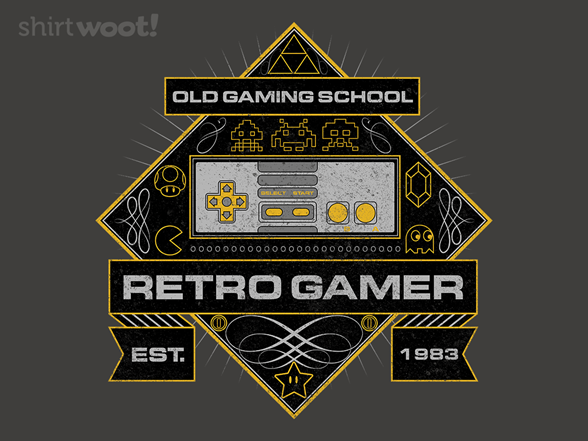 Super Retro Gamer T Shirt