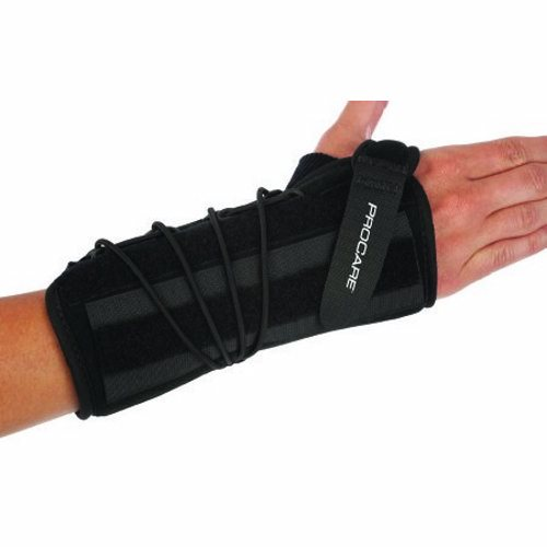 Wrist Support Quick-Fit Wrist II Removable Palmar Stay Nylon / Foam Left Hand Black One Size Fits M - 1 Each by DJO
