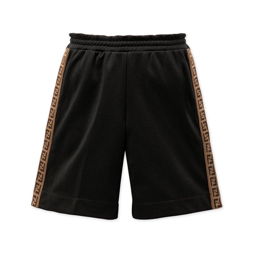 Fendi Side Logo Shorts Colour: BLACK, Size: 12 YEARS