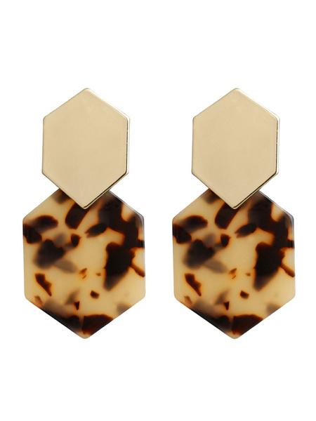 Milanoo Earrings Red Metal Non Stone Pierced Women Jewelry