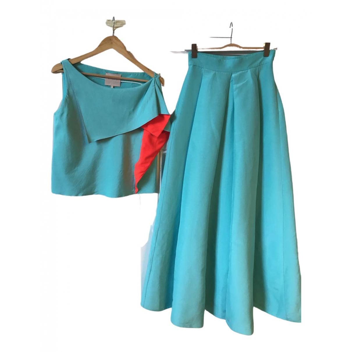 Roksanda \N Turquoise Cotton dress for Women 8 UK