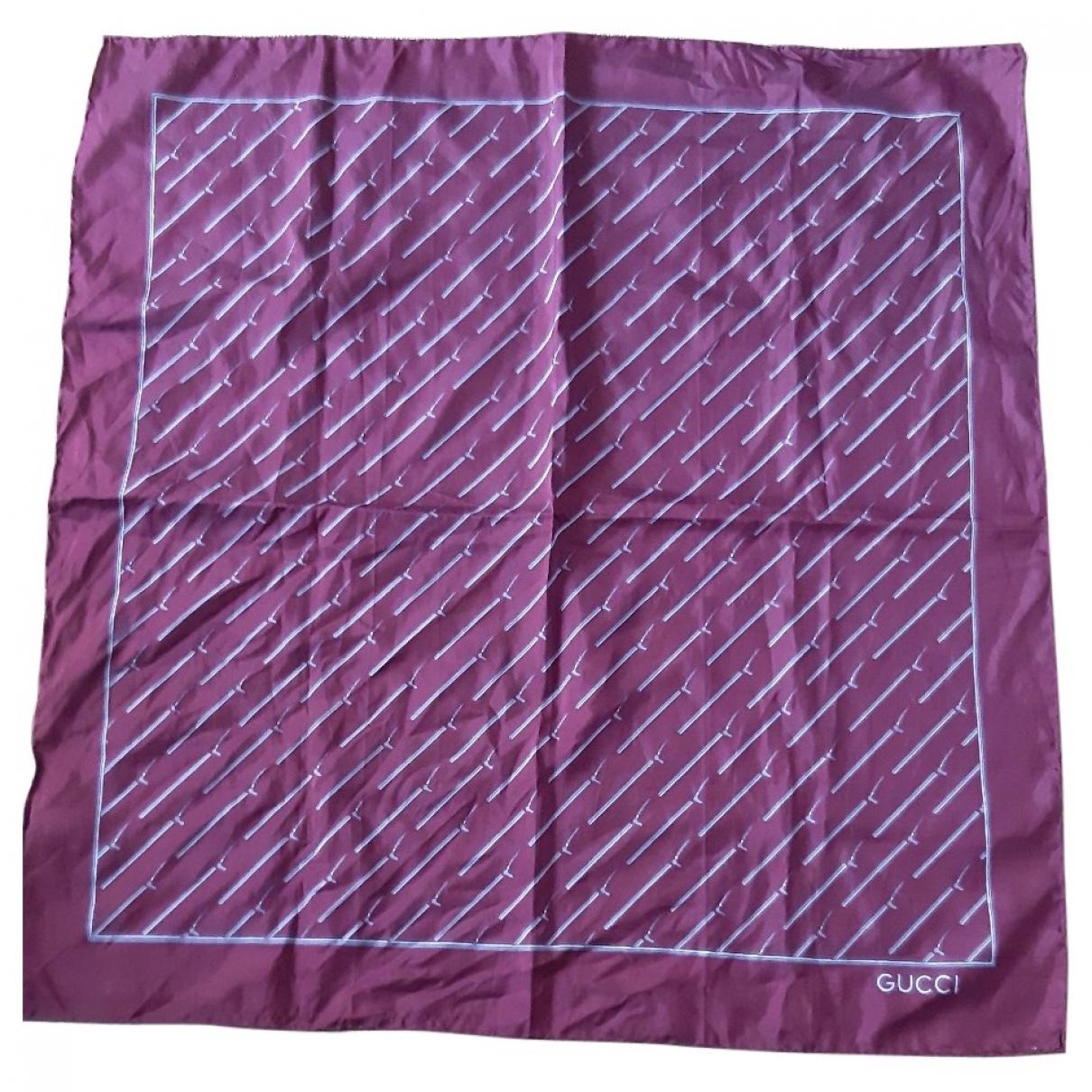 Gucci \N Burgundy Silk scarf & pocket squares for Men \N