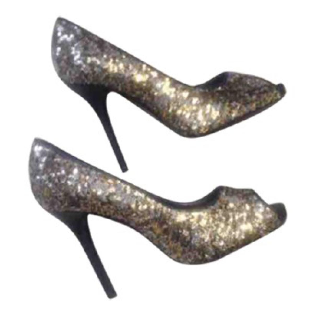 D&g \N Gold Glitter Heels for Women 36 EU