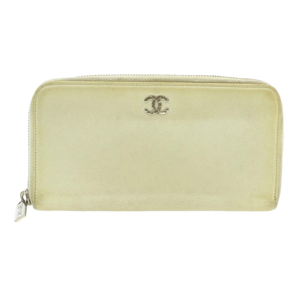 Chanel N White Leather wallet for Women N