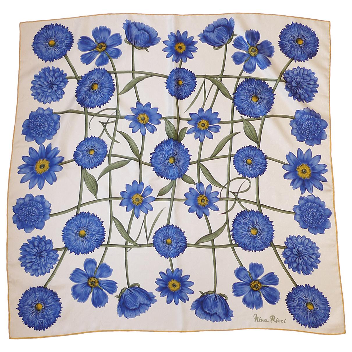 Nina Ricci \N Blue Silk scarf for Women \N