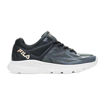 Fila Memory Speedstride Womens Running Shoes, 8 Medium, Black