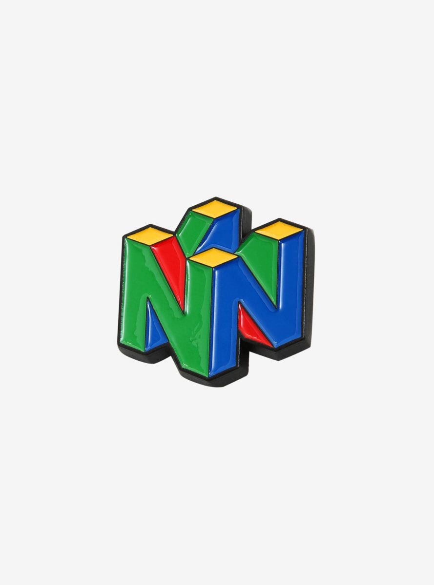 Nintendo 64 Logo Enamel Pin - BoxLunch Exclusive