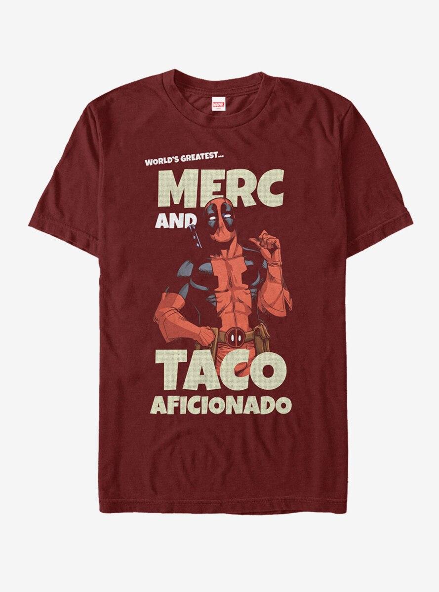 Marvel Deadpool Greatest Taco Aficionado T-Shirt