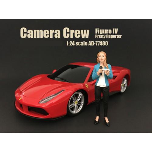 Camera Crew Figure IV Pretty Reporter For 124 Scale Models by American Diorama