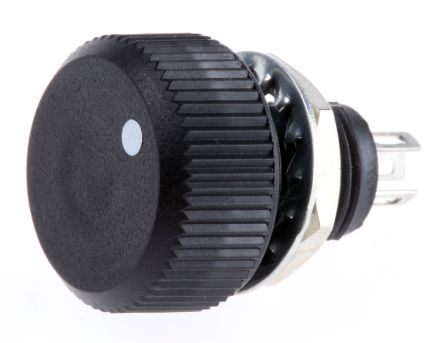 Vishay 1 Gang Rotary Cermet Potentiometer with an 16 mm Dia. Shaft - 220kΩ, ±20%, 1W Power Rating, Linear, Panel Mount