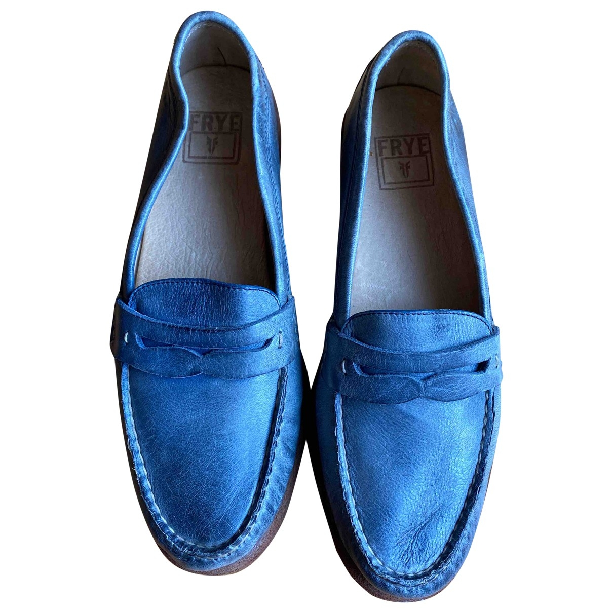 Frye \N Blue Leather Flats for Women 36 EU