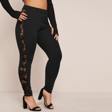 Plus Lace Sideseam Leggings