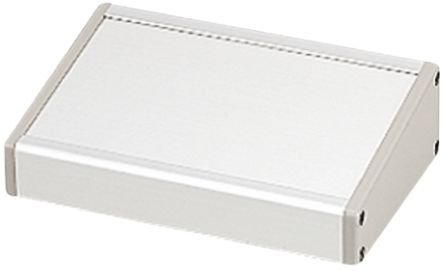 Takachi Electric Industrial CF, Sloped Front, Aluminium, 181.3 x 270 x 66.2mm Desktop Enclosure, Grey, Silver