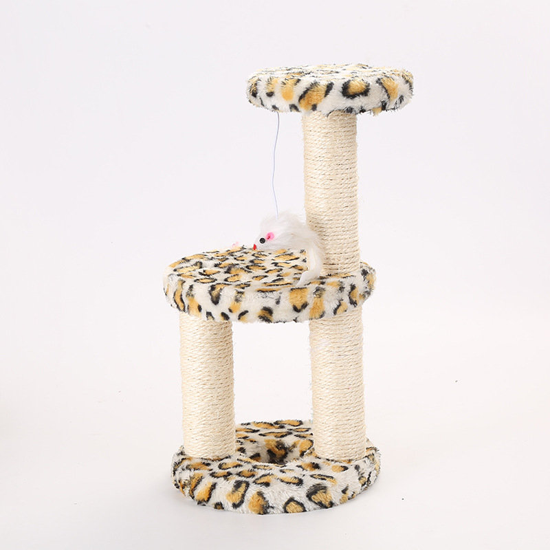 Pet Cat Sisal Toy Three-Column Three-Layer Disc Medium-Sized Cat Climbing Frame Detachable Assembly