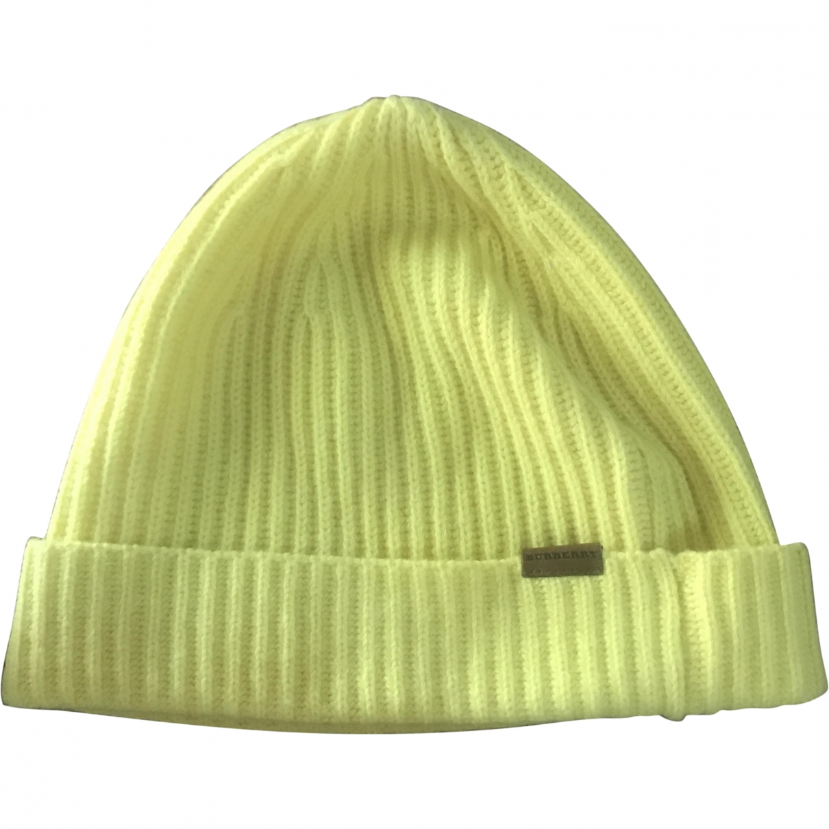 Burberry \N Yellow Cashmere hat for Women XS International