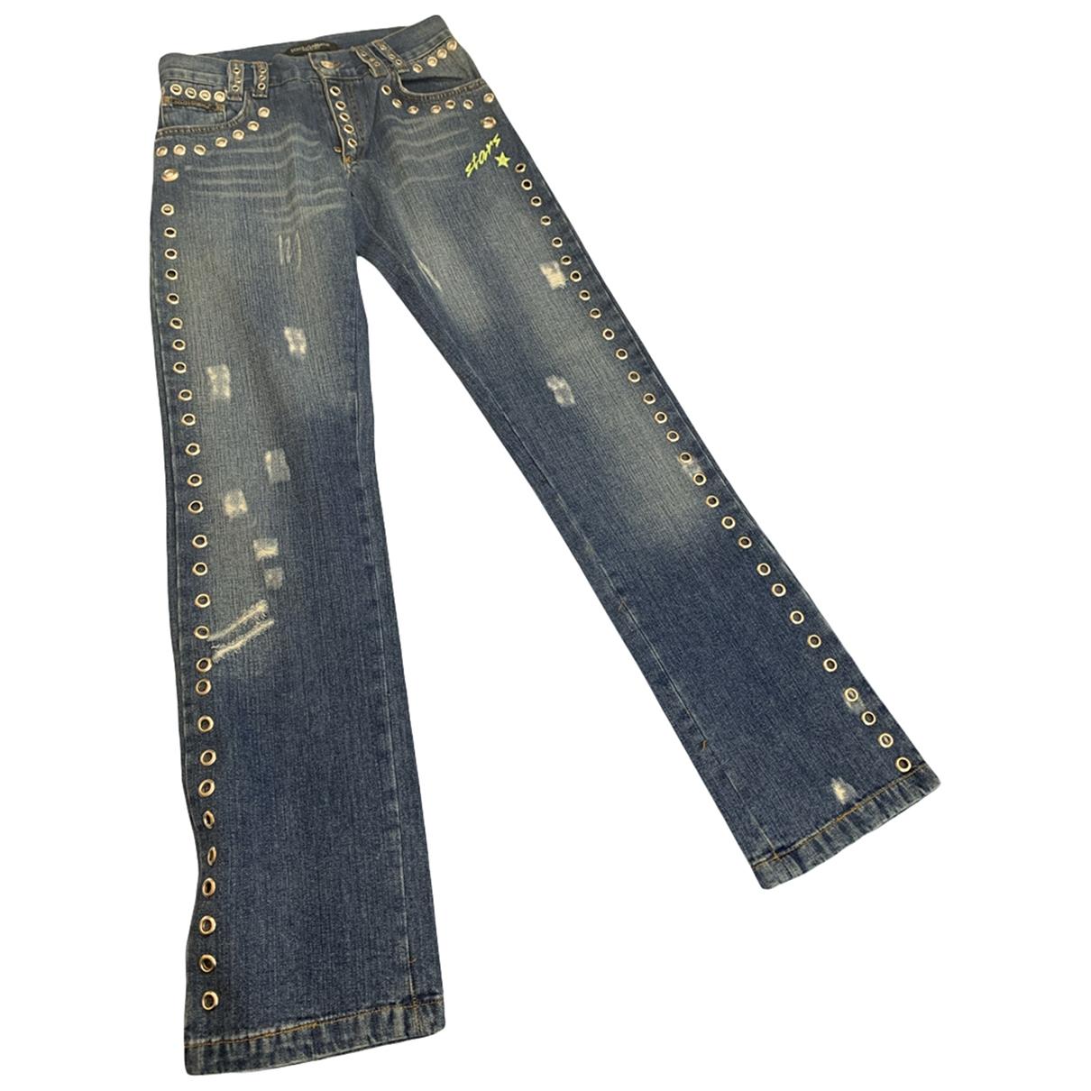 Dolce & Gabbana \N Blue Denim - Jeans Jeans for Women 34 FR