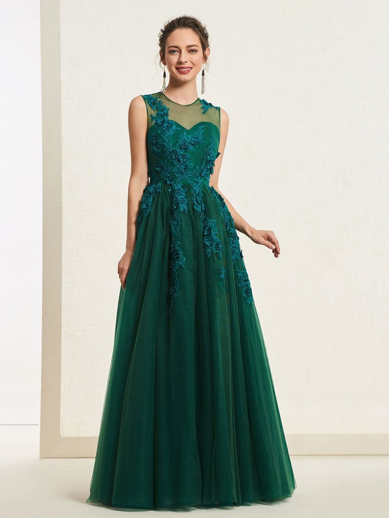 Ericdress A-Line Appliques Prom Dress