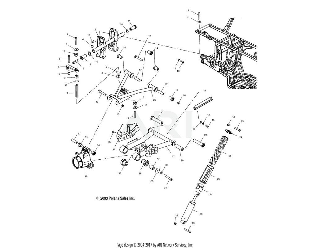 Polaris OEM 1014320-293 Arm, Control, Upper, LH