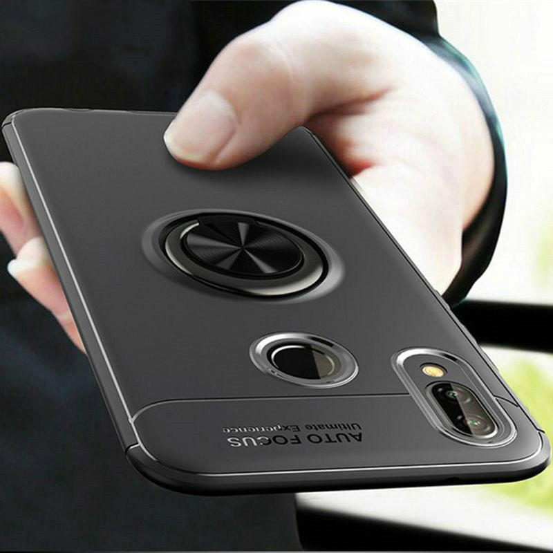 Bakeey 360° Rotating Ring Holder Magnetic Adsorption Shockproof Protective Case for Samsung Galaxy A40 2019