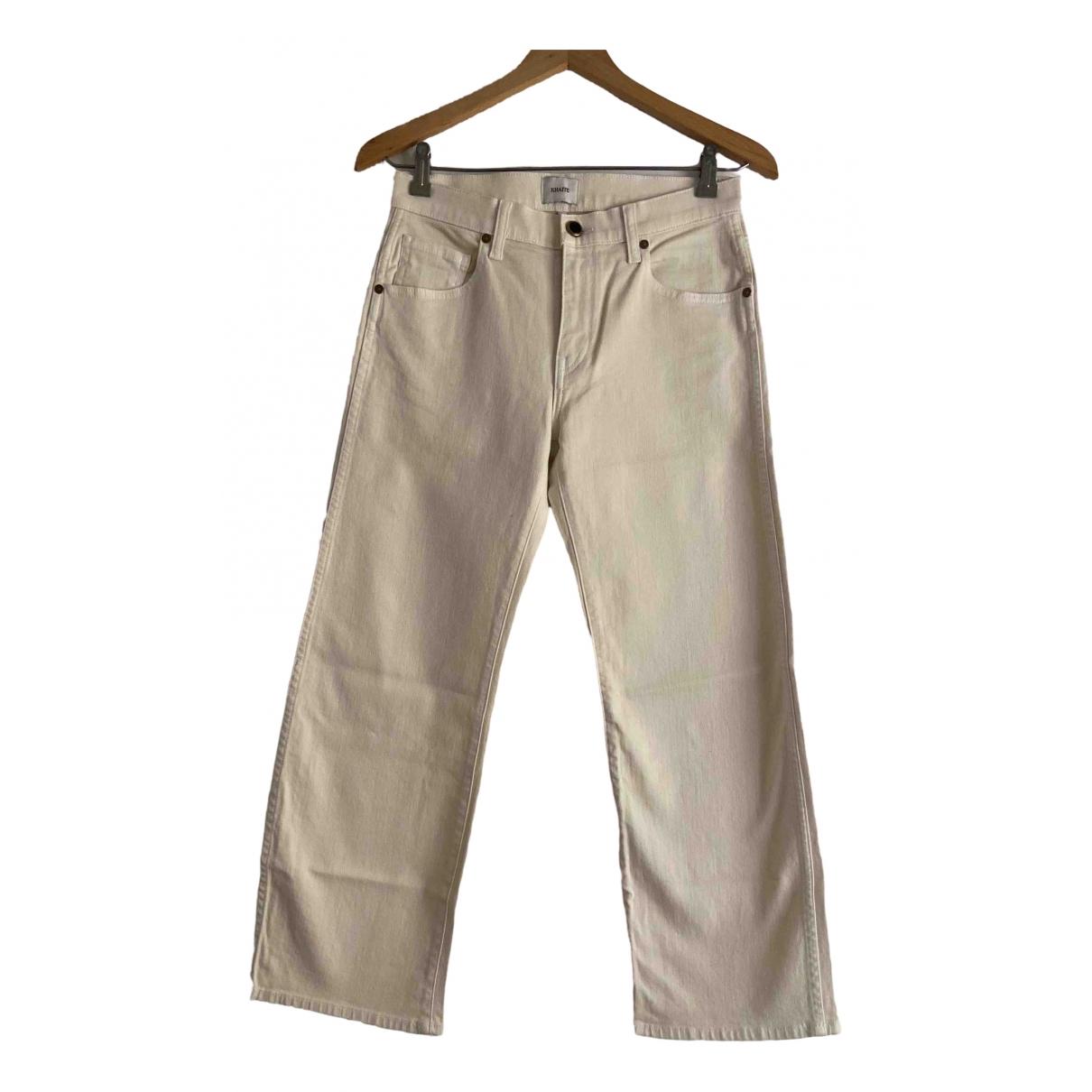 Khaite \N Ecru Cotton Jeans for Women 26 US