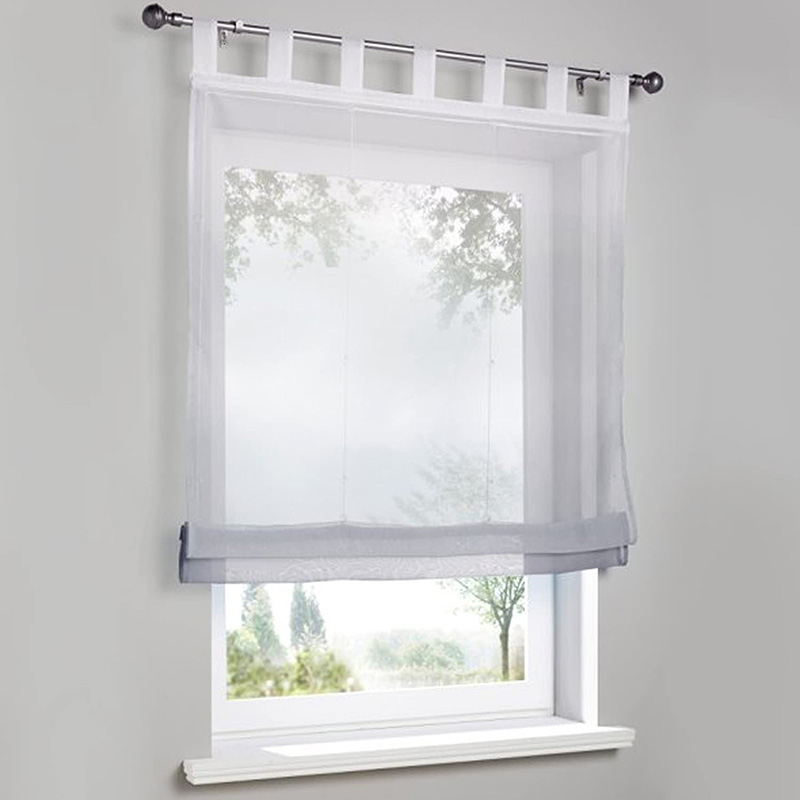 Modern Gradient Translucidus Roman Sheer Shades for Cabinet and Kitchen Window